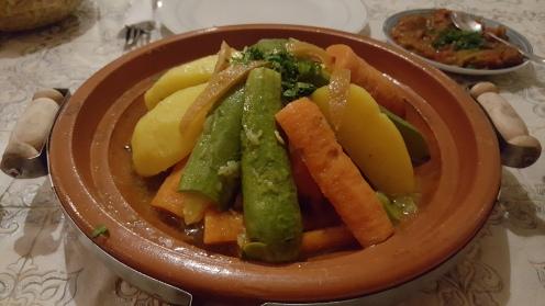 Requested Vegetable Tajine for Dinner at MAD 150..