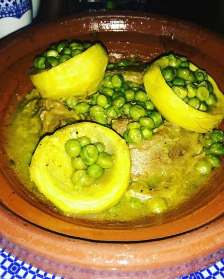 Lamb Tajine with Artichoke and Peas