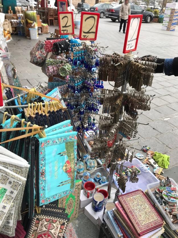 Souvenirs outside Spice Bazaar